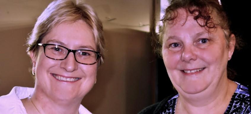 Ann and Sandie at the Trade Fair Photographer: Ann Turner