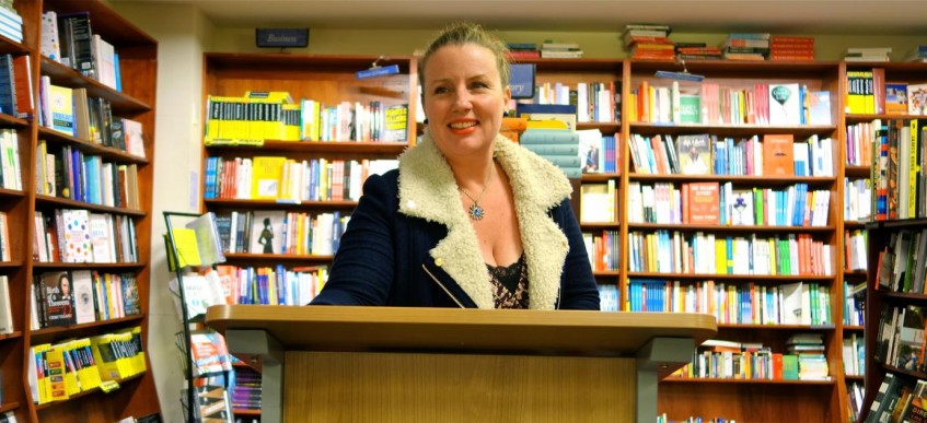 Roberta Ivers Speaking At The Launch Of Ann Turner's The Lost Swimmer